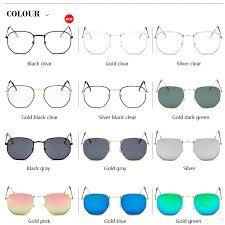 <b>New Arrival Polygon Clear</b> Square Sunglasses Women Fashion ...