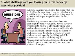 top concierge supervisor interview questions and answers supervisor interview questions and answers previous