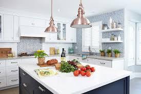 images copper blue kitchen