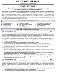 top marketing resume templates  amp  samplesmarketing specialist professional