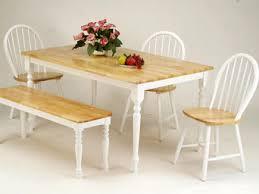 natural whitewash dining bench