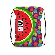 Watermelon Drawstring Backpack - Purple Fruit ... - Amazon.com