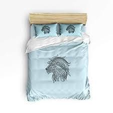 LEO BON Duvet Cover Set Full Size Ethnic Style Lion ... - Amazon.com