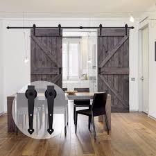 <b>LWZH</b> American Style Wood Barn Door 6FT/7FT/7.5FT/9FT Black ...