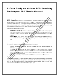 A Case Study on Various ECG Denoising Techniques  PhD Thesis Abstract SlideShare A Case Study on Various ECG Denoising Techniques  PhD Thesis Abstract ECG signal  The