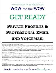 wow for the wow words of wisdom for the world of work archives job search preparation job search skills resume butterfly get ready private profiles