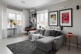 gray living room small spaces modern