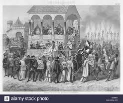 fe black and white stock photos images alamy an auto da fe of the spanish inquisition while nine are already burning