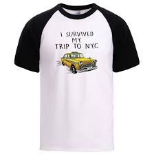 Man Summer Spring Tshirt <b>I Survived My Trip</b> To Nyc Letter Print ...