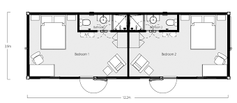 Intermodal Shipping Container Home Floor Plans  Below are example    Two Bedroom  Two Bath Shipping Container Home Floor Plan
