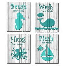 bathroom decor baby boy teal aqua wood bathroom sign decoration baby boy bathroom wall decor f