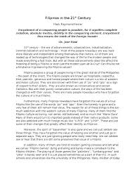 essay about filipino family values  essay about filipino family values