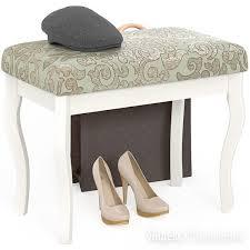 Банкетка Мебель--24 Вента-1, цвет слоновая кость, обивка ткань ...