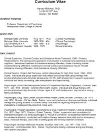 curriculum vitae harvey milkman phd w th ave golden co pdf psychology bellevue psychiatric hospital 1969 1970 clinical internship employment clinical supervisor criminal