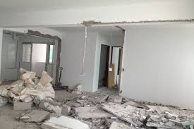 demolished kitchen partition wall