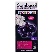 Sambucol for <b>Kids Black Elderberry Syrup</b>, 4 Oz Bottle NOT MAPPED