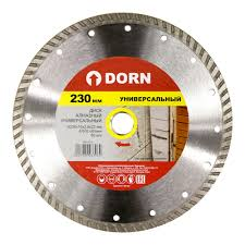 <b>Диск алмазный</b> DORN <b>универсальный</b> 230x2,8x22 мм TURBO ...