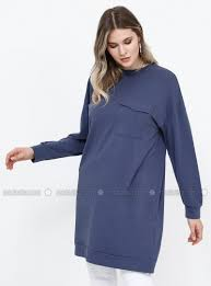 Purple - Crew neck - <b>Cotton</b> - <b>Plus Size</b> Tunic
