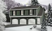 Garage Apartment Plans or Apartment Over Garage Designs at    ORDER this garage plan  Click on Picture for Complete Info