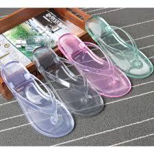 Summer Jelly Crystal <b>Transparent Clear Flip Flop</b> Slipper CICITOP ...