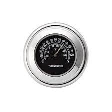 <b>Possbay</b> Universal <b>Motorcycle</b> Thermometer Handlebar Chrome ...