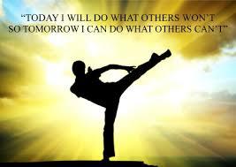 Karate Kung fu Martial Arts quote inspirational Poster Print ... via Relatably.com