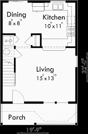 Victorian House Plans  Narrow Lot House Plans  House Plans  Main Floor Plan