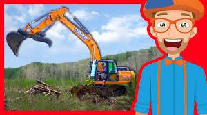 <b>Construction</b> Trucks for Children with Blippi | <b>Excavators</b> for Kids ...