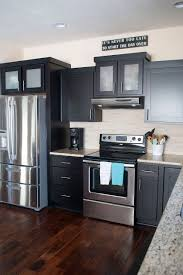 wood flooring kitchen contemporary accent hmm a kitchen tour with contrasting finishes such as dark cabinets dar