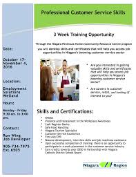 customer service and retail professional program niagara women s the professional customer service skills flyer