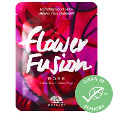 <b>Flower Fusion</b>™ <b>Rose</b> Hydrating Sheet Mask - <b>Origins</b> | Sephora