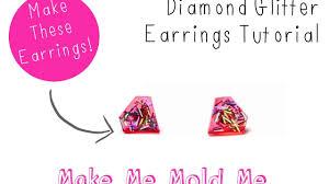 Diamond Glitter <b>Earring</b> Tutorial - Resin DIY Craft <b>Mold</b> - How to use ...