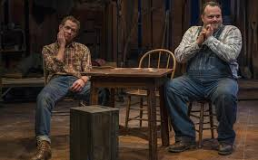 rep s mice and men captures loneliness of these american dreamers jonathan wainwright portrays george and scott greer is lennie in the milwaukee repertory theater s production john