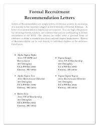 sorority recommendation letter example recommendation letter  sorority recommendation