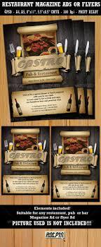 restaurant bar magazine ads or flyers template by hotpin restaurant bar magazine ads or flyers template restaurant flyers
