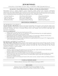 examples medical s resumes sle resume sales medical equipment sample healthcare sales resume