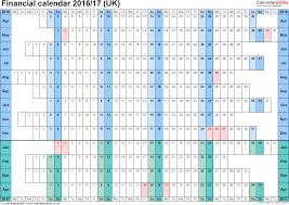 financial calendars uk in microsoft word format template 3 word template for financial calendar 2016 2017 landscape orientation linear