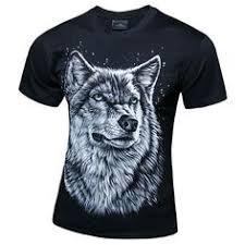 <b>FORUDESIGNS</b> Mens <b>T</b> Shirts Cool 3D <b>Wolf T</b>-Shirt for Men ...