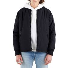 <b>Levi's Hyde Quilted</b> Bomber Men's Jacket - Caviar | Country Attire UK