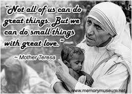 Mother Teresa Quotations - Memorymuseum.net via Relatably.com