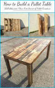 build furniture from pallets pallet table build pallet furniture