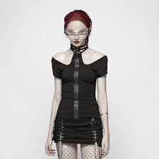 <b>PUNK RAVE</b> New Women <b>Punk Rock</b> Military Short Sleeve T shirt ...