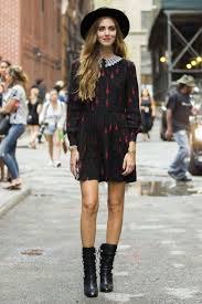 work outfit ideas for the first day of fall glamour first day of fall outfit idea long sleeved dress booties