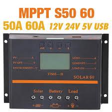 <b>10A 20A 30A</b> Solar Charge Controller <b>12V 24V Auto</b> PWM 5V ...