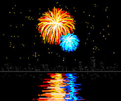 Image result for fireworks over the lake