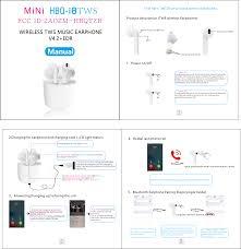 HBQYZB <b>Bluetooth</b> Earphone User Manual 15_HBQ-i8TWS ...