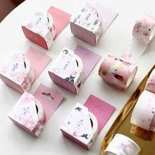 12 шт./лот, <b>розовая бумага</b>, декоративная лента, маскирующая ...