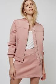 Punch-Textured Bomber <b>Jacket</b> | Верхняя <b>одежда</b> для женщин ...