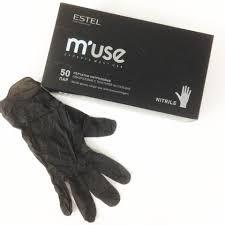 NBKM40 <b>Перчатки</b> нитриловые <b>ESTEL M'USE</b> однораз. с ...