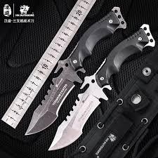 HX <b>OUTDOORS knife</b> k10 handle 440 <b>blade outdoor</b> tactical straight ...